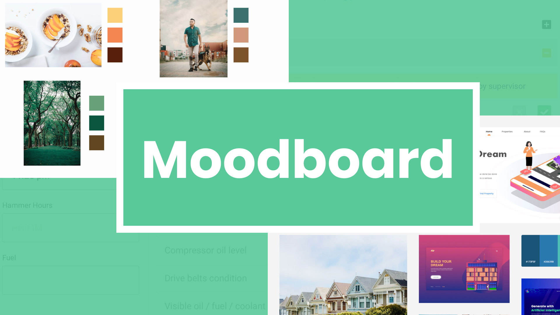 Moodboard for UI/UX Project