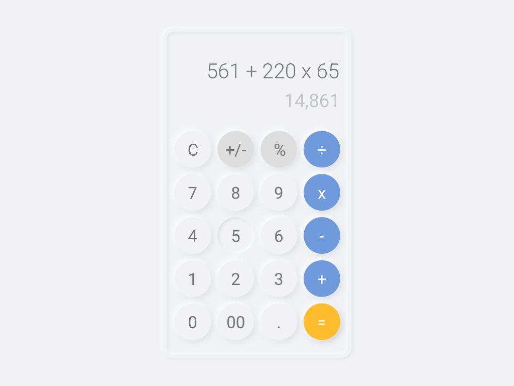 nuemorphic-design-calculator