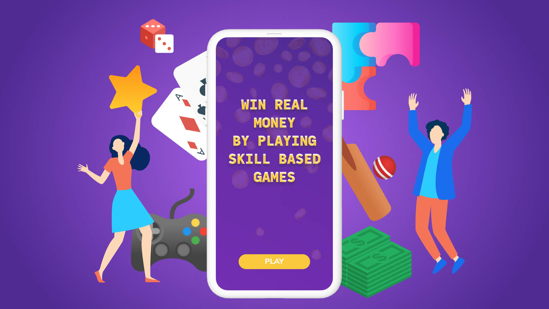 Win real money by playing Skill-based Games!