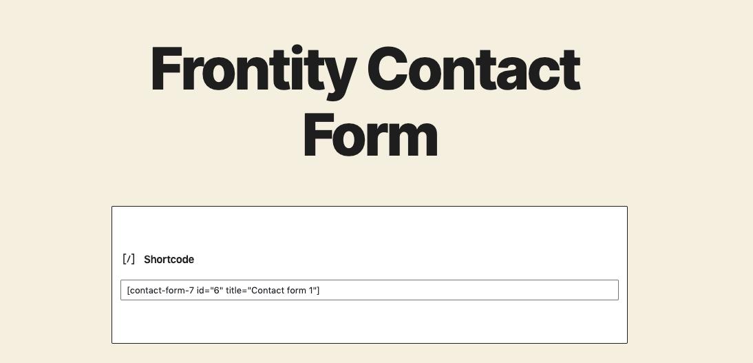 form-shortcode
