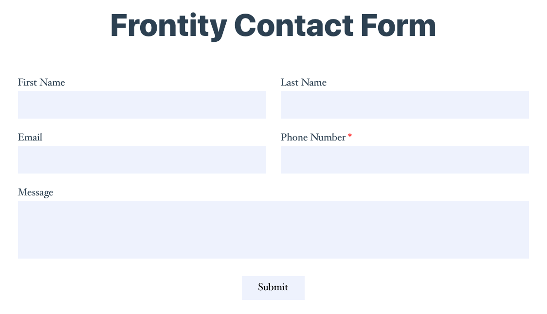 frontity-form-output
