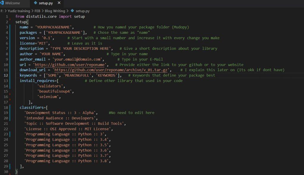 python-library-setup