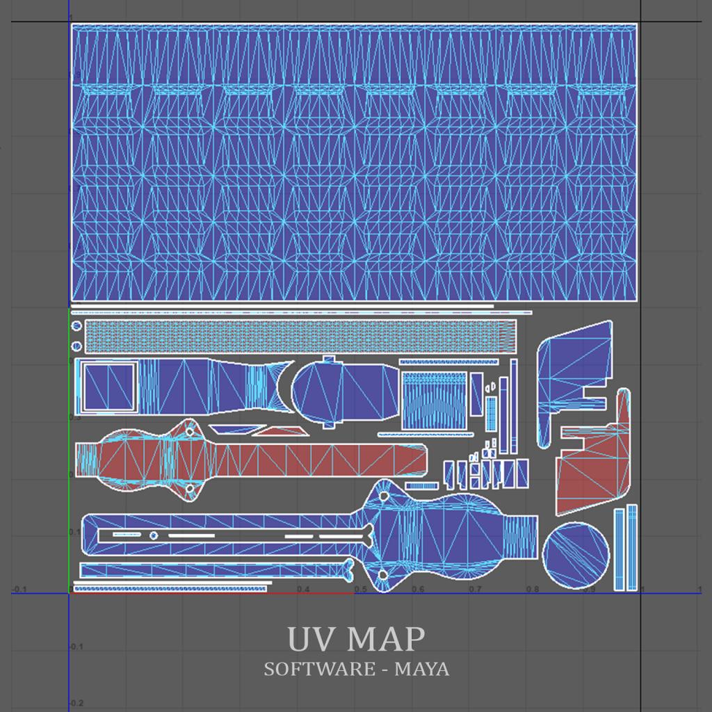 3d-game-asset-uv-map